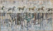 """Caballos"". Pablo Egea. 80x140 cm."