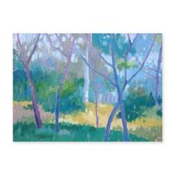 """""""Trees"""". R. Varona. 100x70 cm. Acrílico sobre lienzo"""