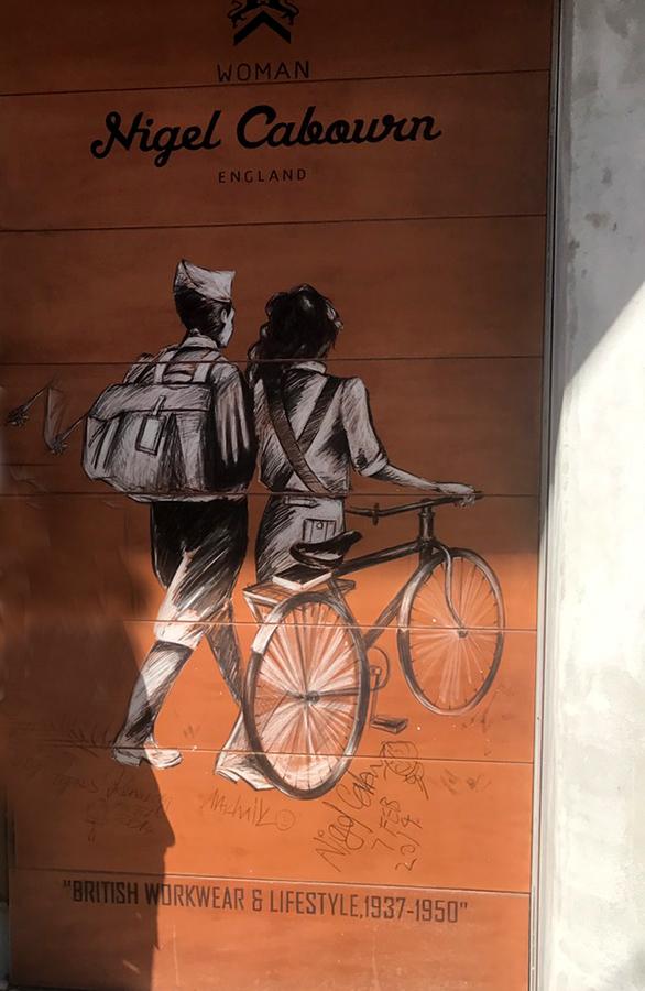 屋外チョークアート壁画