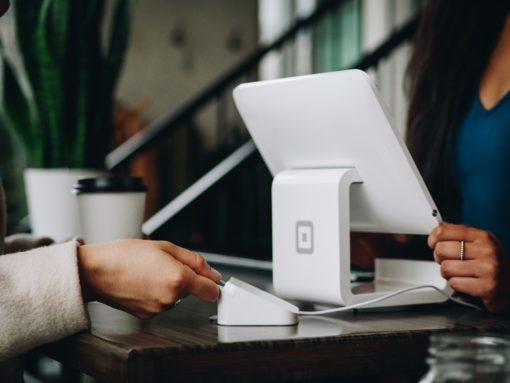 customer on tablet