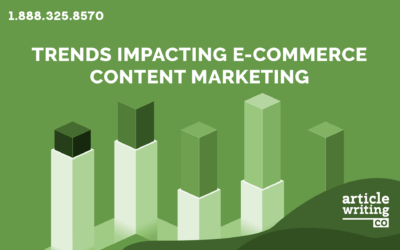 Trends Impacting E-Commerce Content Marketing