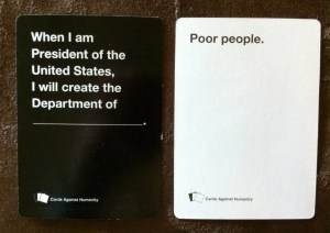 Department of -- Poor People