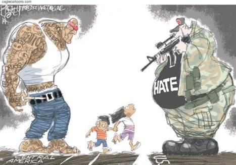 The Border Crisis: Immigration cartoon
