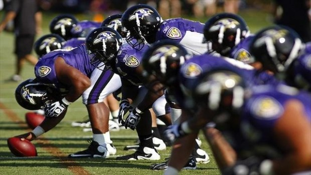 Baltimore Ravens in training camp