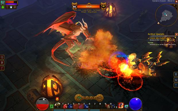 torchlight II dragon