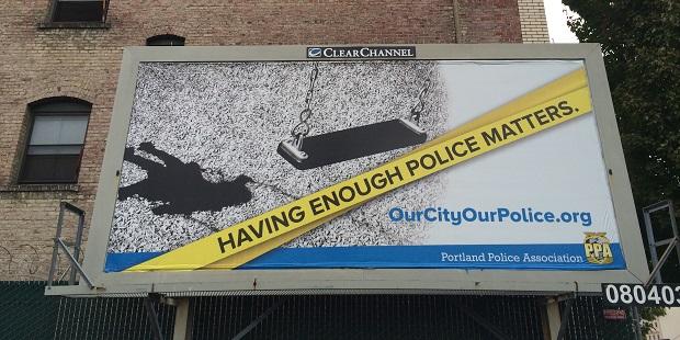 Having Enough Police Matters billboard