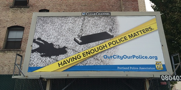 Having Enough Police Matters billboard