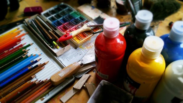 Taken by cancer: Art supplies