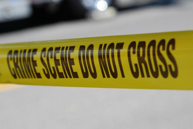 Murder house: crime scene tape
