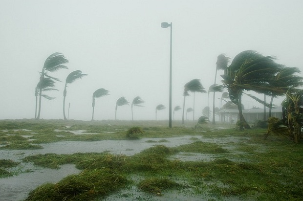 Photo of Hurricane Dennis hitting Key West