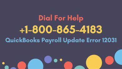 Photo of QuickBooks Payroll Update Error 12031: 1-800-865-4183 How to Fix
