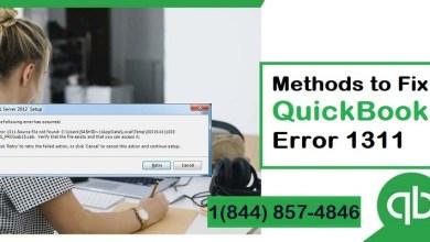 Photo of QuickBooks Error Code 1311 (Source File Not Found)