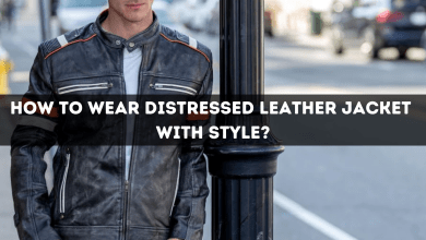 Photo of HOW TO WEAR DISTRESSED LEATHER JACKET WITH STYLE