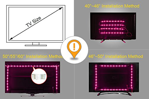 Led retroilluminazione tv illuminazione bias usb m con colori