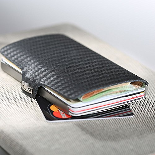 440a0d57eb912a I-CLIP NERO CARBON Portafoglio con clip Porta Banconote Carte Di Credito  Slim Magic Wallet I ...