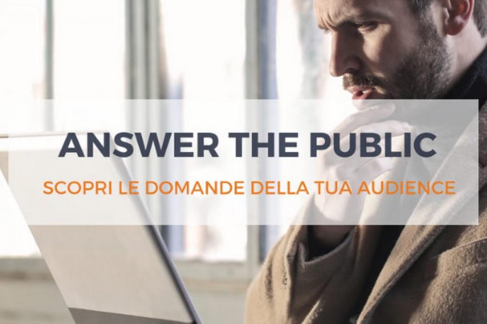 Come creare contenuti editoriali usando Answer the Public