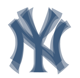 differences in the new york yankees logo artifacting rh artifacting com new york yankees logo font New York Yankees Logo Printable