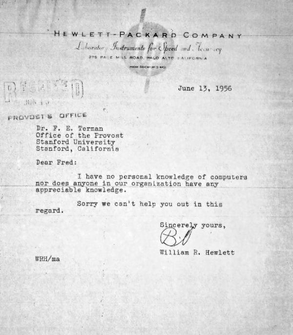 Hewlett-Packard Letter