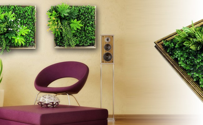 Artificial Plants Frame Wall Art 3d Artificial Plant For