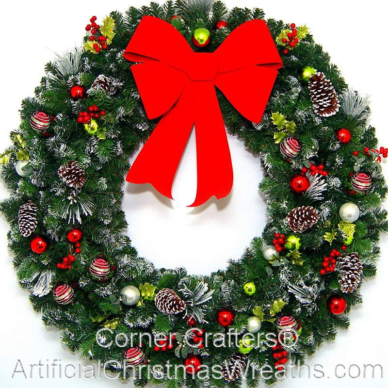 Fall Outdoor Decorations Wallpaper 4 Foot Christmas Magic Wreath Artificialchristmaswreaths