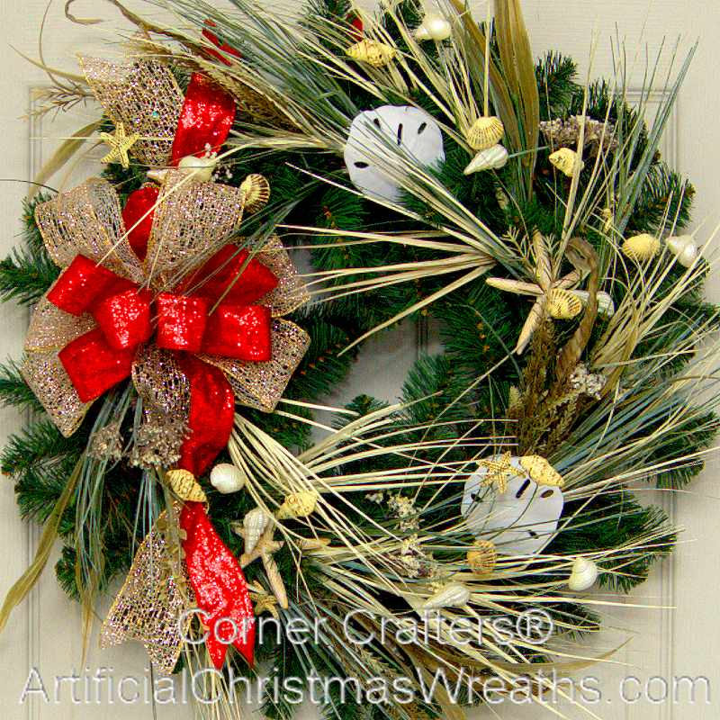 CHRISTMAS AT THE BEACH WREATH  ArtificialChristmasWreaths
