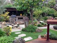 Green Lawn San Saba, Texas Backyard Deck Ideas, Backyard