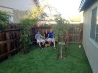 Fake Grass Chamita, New Mexico Paver Patio, Backyard Design