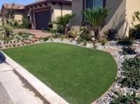 Artificial Grass Driftwood Texas Landscape Front Yard