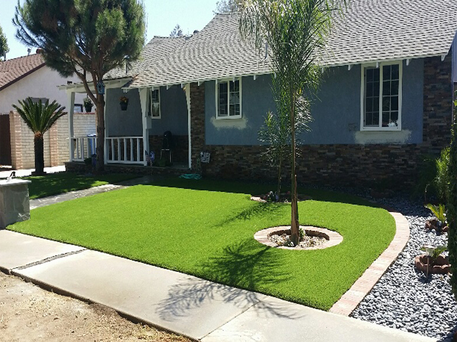 Synthetic Grass Yreka California Lawn And Landscape Front Yard Design