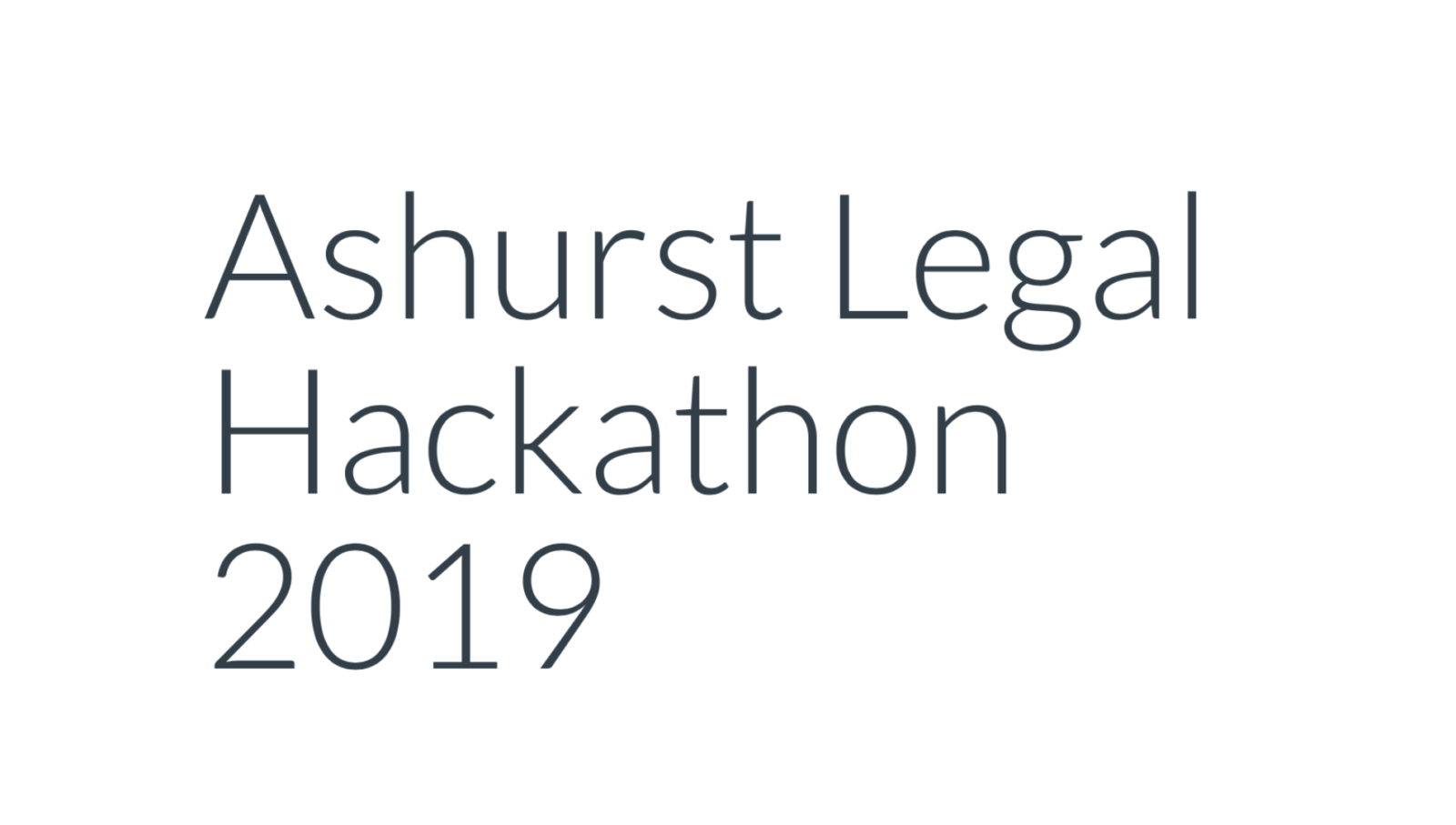 Ashurst Holds 1st Legal Tech Hackathon, Partners With