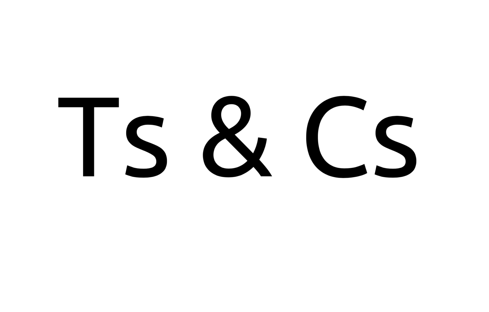 'One Day All Ts & Cs Will Be Made This Way…'
