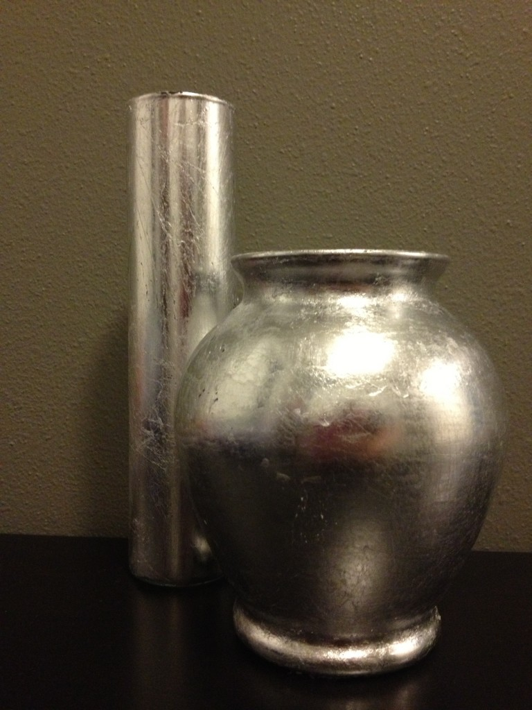 Upcycle a Glass Vase with This Silver Leaf Project