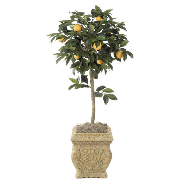 45 Foot Artificial Orange Tree Potted W 2330