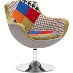 Zuo Swivel Chair Swing Rona Modern Walloon Occasional Patchwork