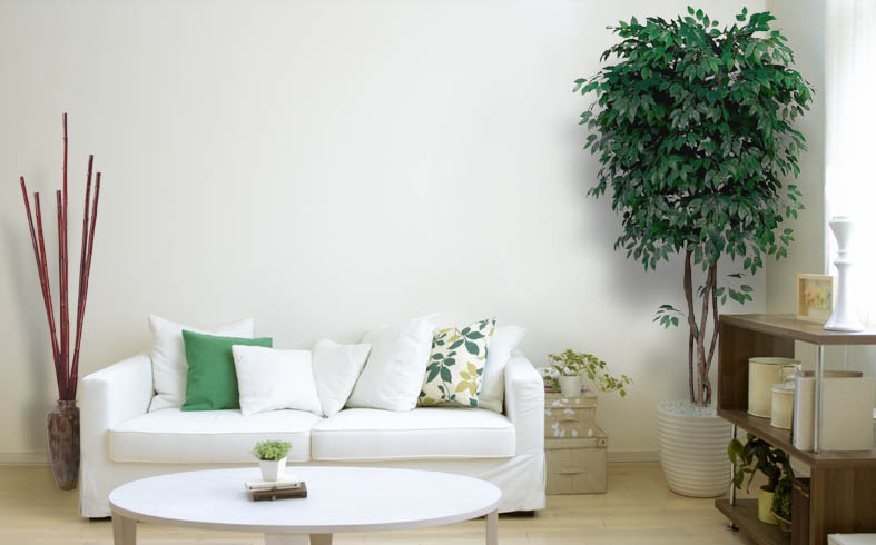 artificial plants for living room decor small with fireplace and trees silk