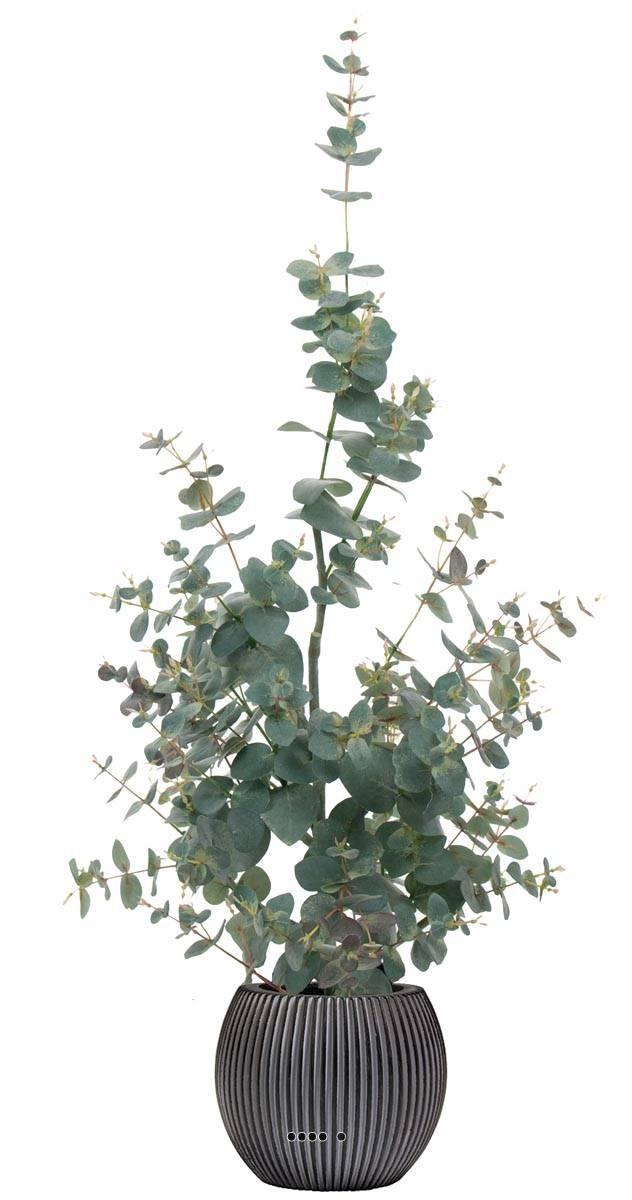 eucalyptus artificiel en pot h 95 cm d 16 cm