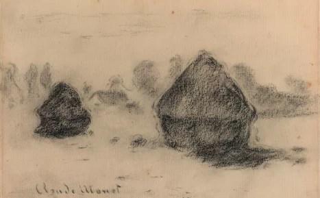 Artify - Dessin des Meules de Claude Monet