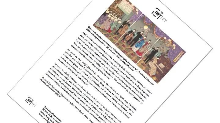 Artify - Fiche de l'oeuvre Concert de musique européenne de Toyohara Chikanobu présentée lors de Art & Musique