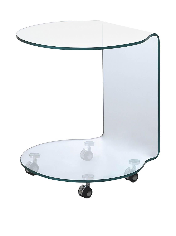 Tavolino In Vetro Modello Rolly Arredamento in svendita