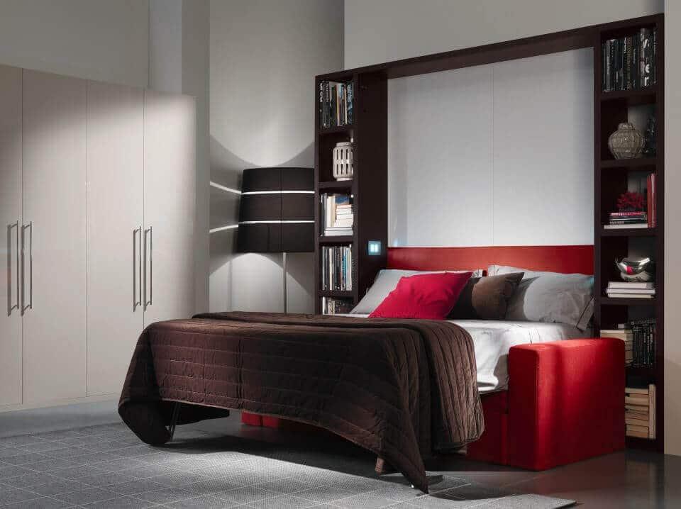 Mobile letto a scomparsa con divano Modello Living
