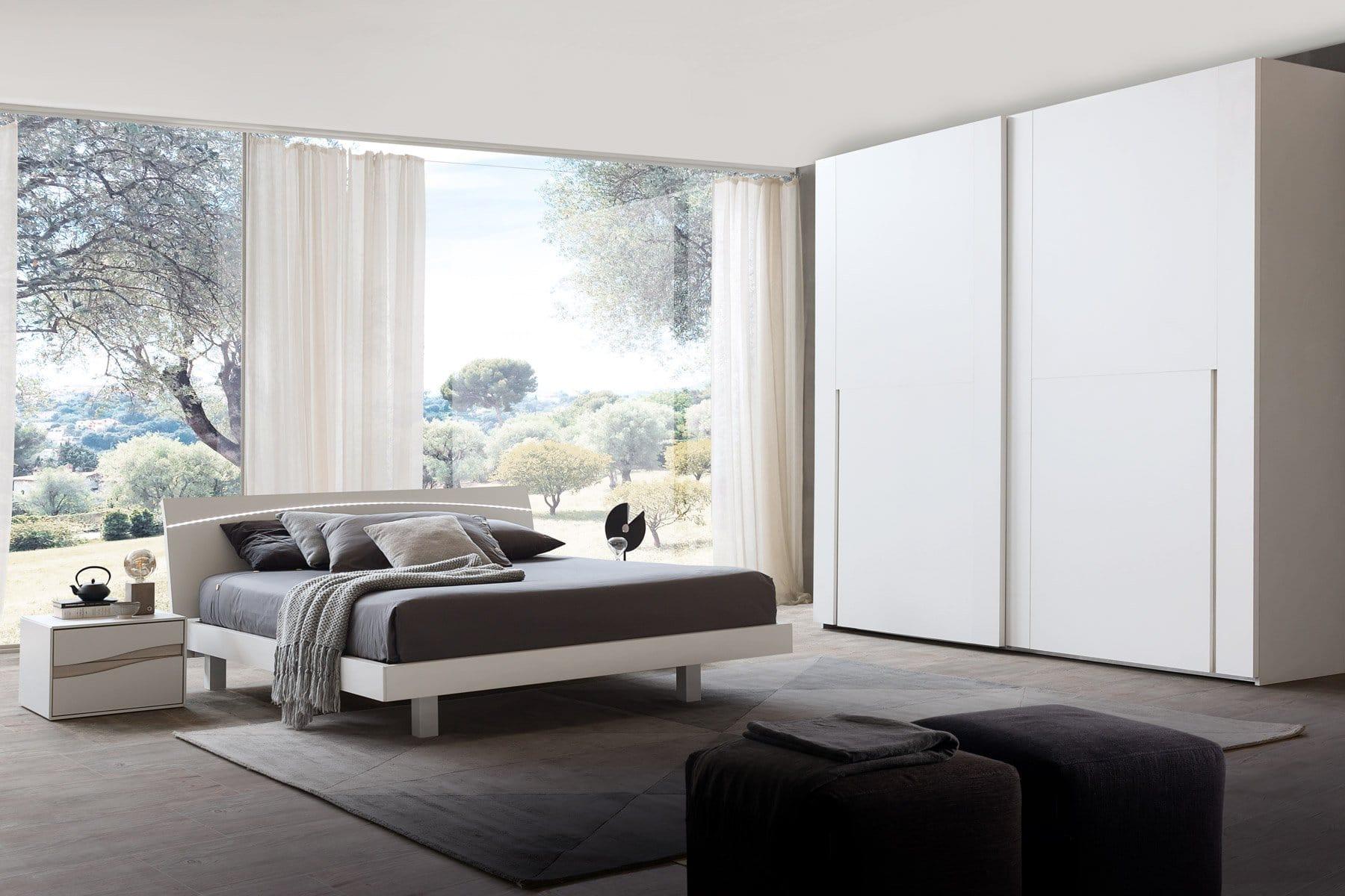Trova una vasta selezione di camere da letto grigi a prezzi vantaggiosi su ebay. Camera Da Letto Con Armadio Scorrevole Modello Treny Arredamento Zona Notte Camere Mobili Da Notte