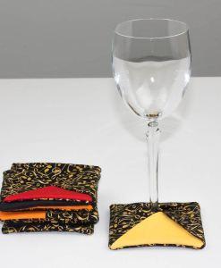 Sous-verre identificateur notes de musique (coupe à vin) | Fait main Artigina