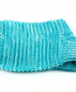 Bas de laine pour femme - Renaissance turquoise - Fait main Artigina