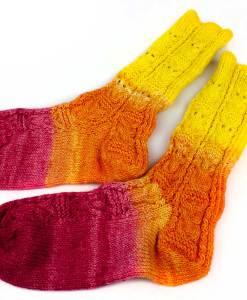 Bas de laine pour femme - Dégradé hiboux