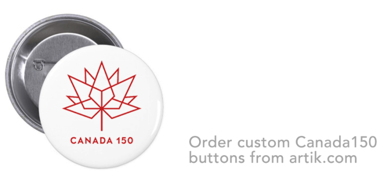 Custom pinback buttons for Canada day