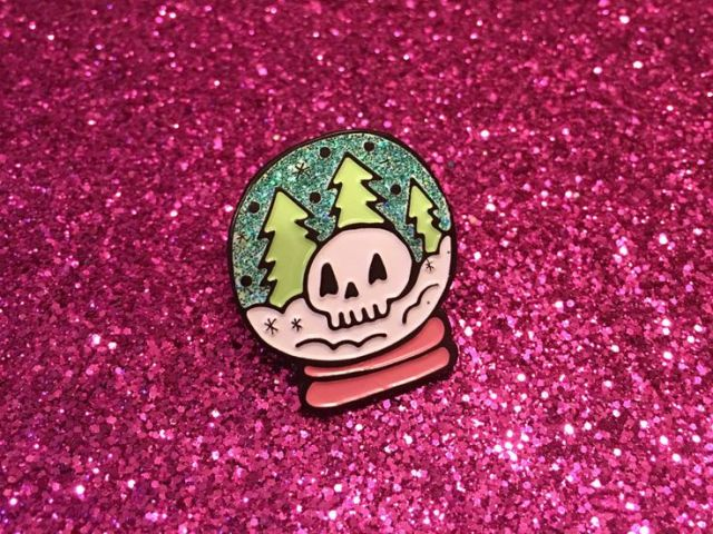 Have fun with lapel pins! add sparkles, chains, hinges and a spooky glow