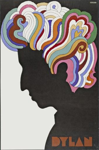 Bob Dylan poster by Milton Glaser