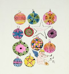 fairy and christmas ornaments c 1953 55 andy warhol  [ 1004 x 1227 Pixel ]