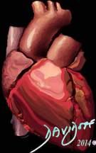 heart-ventricles-right atrium-aorta-pulmonary-artery-vena cava-art-anatomy-Davidoff