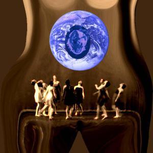 body, woman, pregnancy, earth, breasts, pelvis, dance, anatomy, art, common vein, art in anatomy, Ashley Davidoff MD
